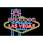 Las Vegas, Nevada - Neon Lights Welcome Sign (36x24 Gallery Quality Metal Art)