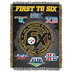 Northwest Pittsburgh Steelers Super Bowl Commemorative Throw