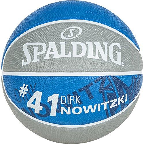 Spalding pallone da basket con giocatore NBA Dirk Nowitzki, 83-379Z, Grigio/Royal, 7, 3001586010317