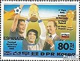 norte-Corea 2271 (completa.edición.) nuevo con goma original 1982 ganadores el Fútbol-WM (sellos para los coleccionistas)