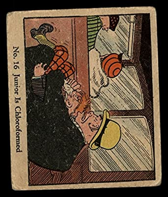 1931 Johnson Candy Dick Tracy # 16 Junior is Chloroformed (Card) Dean