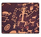 Liili Mouse Pad Natural Rubber Mousepad Petroglyphs on newspaper rock in Canyonlands national park Utah IMAGE ID 10603906