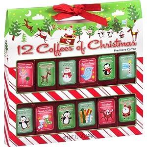 Amazon.com : Premiere Brand Coffees of Christmas Gift Set ...