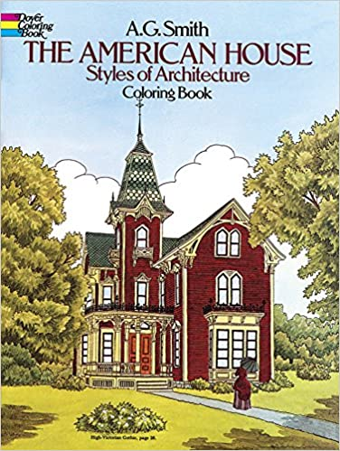 The American House Styles of Architecture by AG Smith. Pictured is a victorian house.