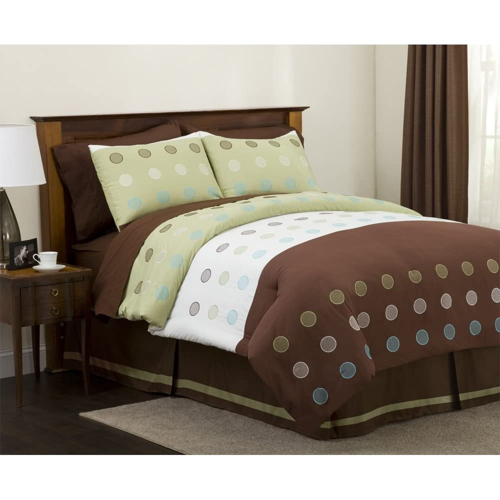 green and brown bedding bedroom decor ideas