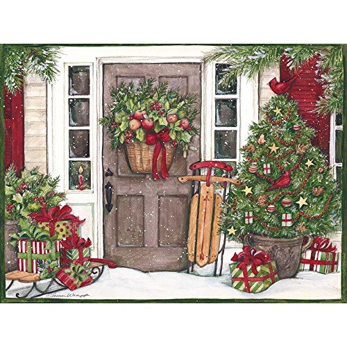 Lang Holiday Door by Susan Winget Jigsaw Puzzle (500-Piece) - 1