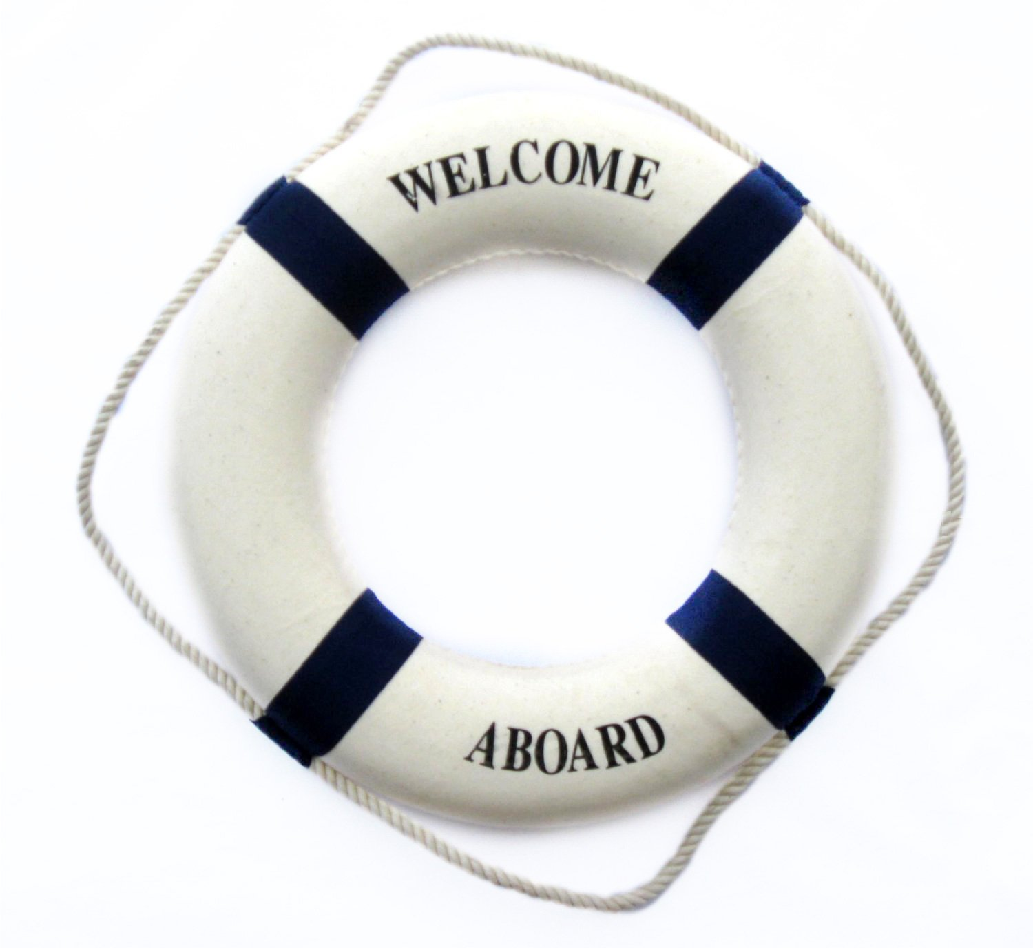 Welcome aboard boat ships life ring clock - Tojoy Nautical Decor Decorative Life Ring 13 5 Inch Lifering Blue