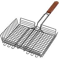 HowPlumb Large BBQ Barbecue Adjustable Grilling Basket