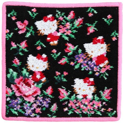 (Feiler) FEILER [Feiler /FEILER] collaboration with KITTY handkerchief (rose Hello Kitty) 01D9205E2525 black approximately 25 x 25 cm