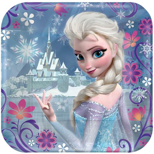 Lowest Price! Disney Frozen - Square Dessert Plates (8)