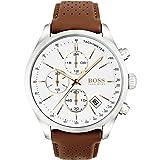 Hugo Boss Grand Prix Chronograph 1513475 Brown Men's Quartz Watch (Color: white)