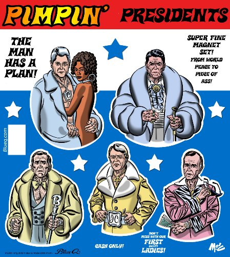 Blue Q Pimping Presidents Magnet Set