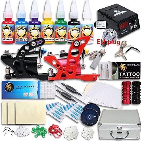 Great Tattoo Kits 2 Rotary Machine New Design Power box and TOP USA inks DIY-506EUYMX