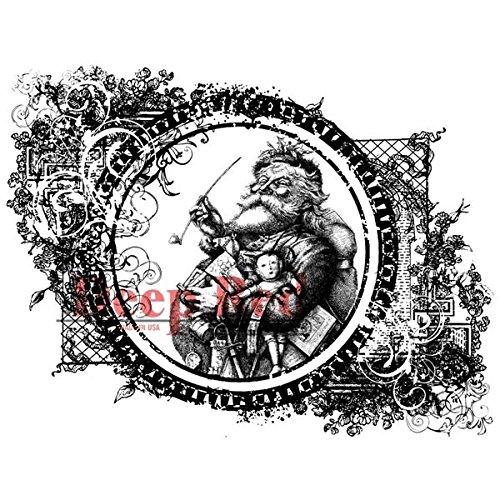 Deep Red Stamps Vintage Santa Rubber Stamp - 1