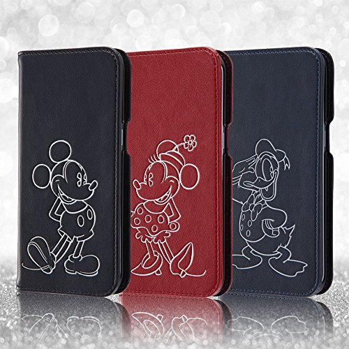 レイ・アウト Galaxy S7 edge ディズニー 手帳型ケース ホットスタンプ ミッキーマウス RT-DGS7EI/MK