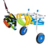 BEETLA Adjustable Pet Wheelchair for Small Dog Cat/Doggie/Puppy Walk, 2 Wheels Cart Pet Wheelchair for Handicapped Hind Legs (XS-1:Height: 7.48