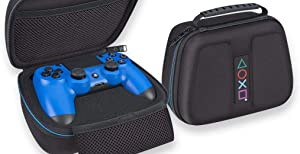 Sony PlayStation 4 Controller Case - Protective Deluxe Travel Case - Black Ballistic Nylon Exterior - Official Sony Licensed Product (Color: Limited Edition)