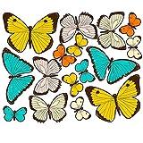 """Wallies (Big Wall Stickers) """"en colores pastel de las mariposas"""""""