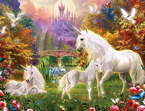 Masterpieces Glittering Unicorns Dazzling Oasis Puzzle (100-Piece)