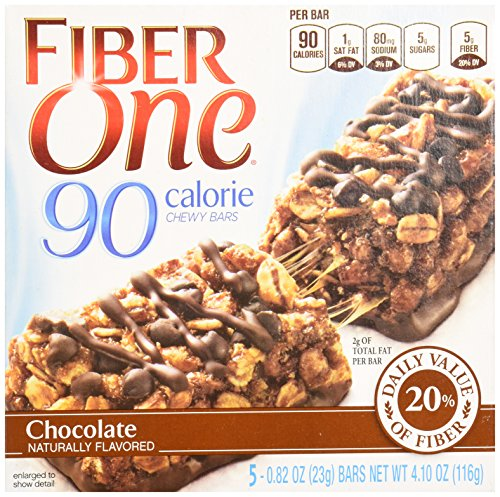 Fiber 1 Chewy Bars, 90 Calorie Chocolate Bars, 4.1 oz