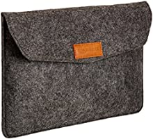 AmazonBasics NC1506105R3 11-inch Felt Laptop Sleeve (Charcoal)