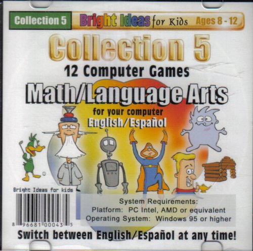 Collection 5 (12) Computer Games Math/Language (ages 8-12)