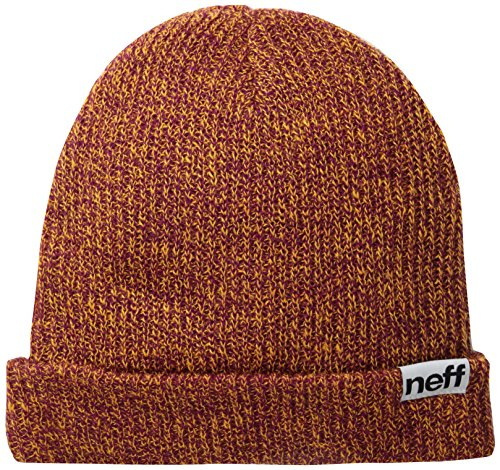 Neff, Cappellino con risvolto Heather, Arancione (Orange/raspberry), Taglia unica