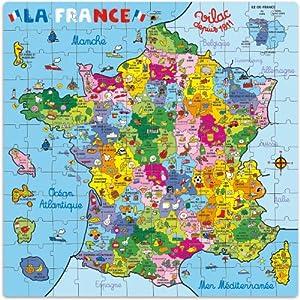 Amazon.com: Vilac - 2603 - Puzzle - Carte de France en Valise - 144