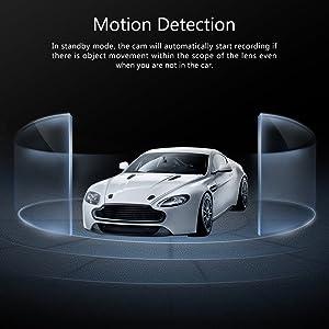 DASH CAM, CROSSTOUR 1080P CAR DVR DASHBOARD CAMERA FULL HD CON PANTALLA LCD DE 3 ANGULO DE 170 °, WDR, G-Sensor, grabación de bucle y detección de movimiento (CR300)