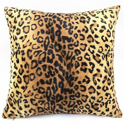 Ularma 45*45cm Tier Plüsch Kissenhülle Sofa Home Wohnzimmer Dekor Dekokissenhülle Kissenbezug Kissen Hülle Pillow Cover (Leopard)