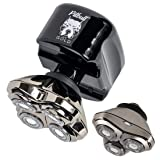 Skull Shaver Pitbull Gold Pro Electric Head and Face Shaver for Men with Bonus CR-3 Blade