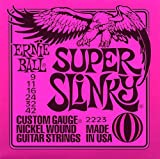 Ernie Ball: Super Slinky Guitar String Set. For Electric Guitar