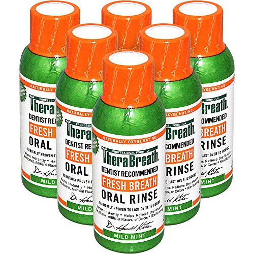 테라브레스 가글 85ml * 6팩 TheraBreath Dentist Recommended Fresh Breath Oral Rinse, 3 Ounce (Pack of 6)