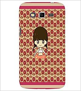 PrintDhaba Cartoon Girl D-2661 Back Case Cover for SAMSUNG GALAXY GRAND 2 (Multi-Coloured)