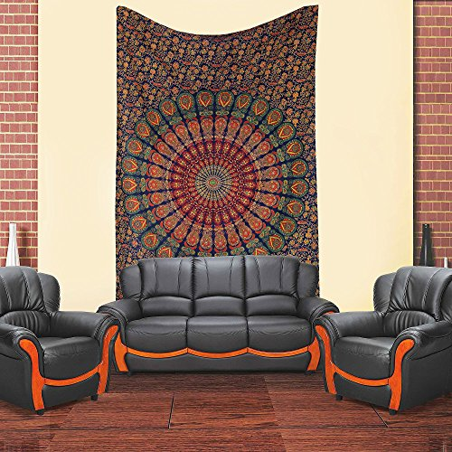 Hippie Mandala Tapestry, Hippie Tapestries, Wall Tapestries, Tapestry Wall Hanging, Indian Tapestry, Bohemian...