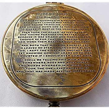 Vintage Antique Robert Frost Poem Compass. C-3142