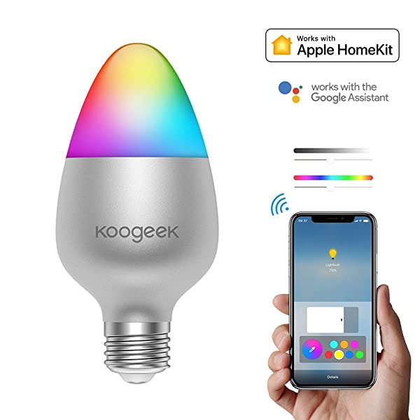 Koogeek E26 8W Color Changing Dimmable Wi-Fi Smart LED Light Bulb