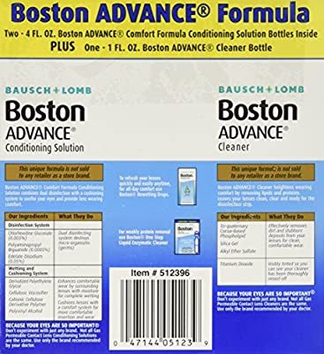 Baush & Lomb Boston Advance Multi-pack (2 X 4 fl oz Plus 1 fl oz Cleaner Bottle)