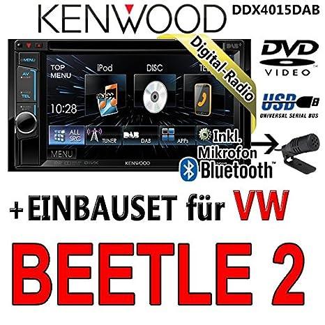 Volkswagen beetle dDX4015DAB kenwood - 2-cD uSB autoradio multimédia 2 dIN avec kit de montage