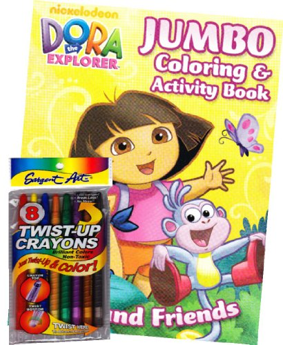 Dora The Explorer Coloring Book Set With Twist-Up Crayons front-1040764