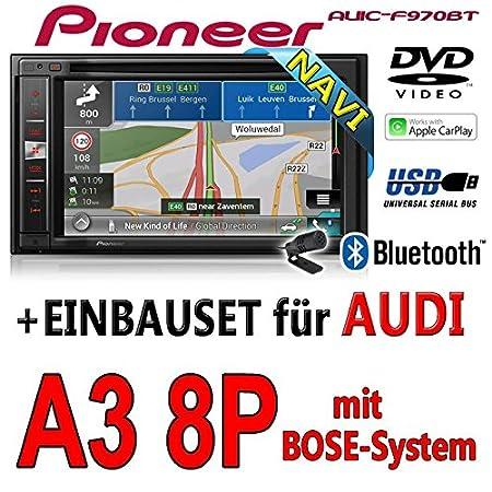 Audi a3 8P-pioneer aVIC-f970BT - 2DIN autoradio multimédia avec système de navigation