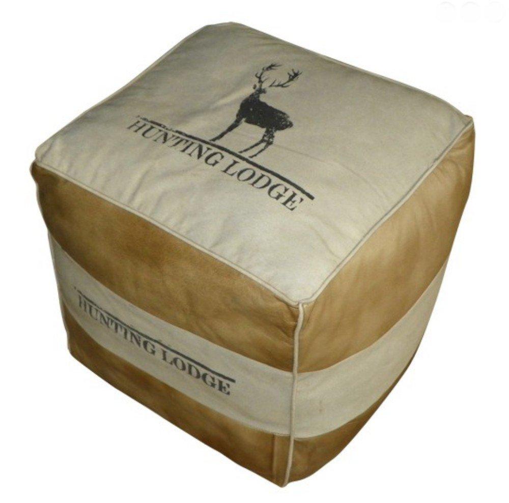 Sitzhocker mit Jagd Motiv Hirsch – Hunting Lodge Hocker