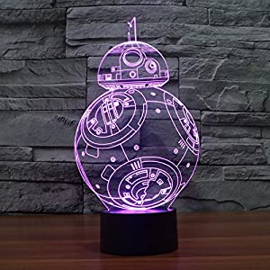 3D Table Light Lamp ,TechCode® 3D Visual Model Night 7 Color Change USB Touch button LED Desk Table Light Lamp (A02) from TechCode