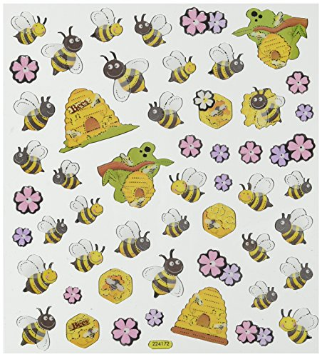 Multi-Colored Stickers-Spring Bees & Hives