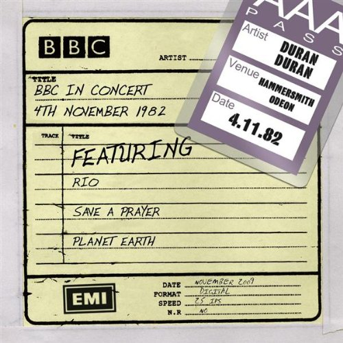 BBC In Concert (4th November 1982, Recorded At Hammersmith Odeon 4/11/82 Tx 11/12/82)