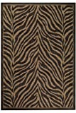 "Namibia Outdoor Area Outdoor Area Rug, 8'6""x13', BLACK"