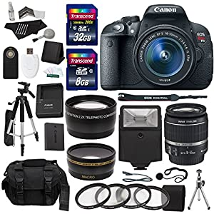 Canon EOS Rebel T5i Digital SLR Camera Body with EF-S 18-55mm IS STM + 40 GB Storage + Tripods + Filters + Deluxe Bag + Flash + Extra Accessories