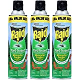 3 Raid Yard Guard 20oz Cans Mosquito Fogger Insect Spray 6hr Repellent 30'x30'