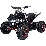 FamilyGoKarts Sport 500W Kids Electric ATV Quad w/3 speed settings plus reverse! (Black/Red)