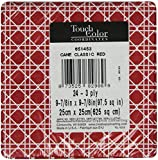 Creative Converting Paper Napkins, Beverage Size, Cane Print on Classic Red, 24-Count Packages (Pack of 6)